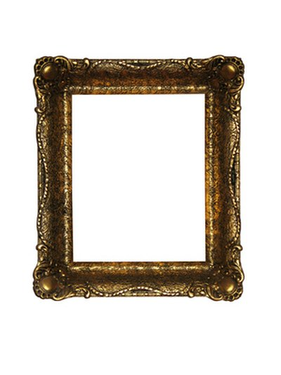 Ornate plaster frames are worth repairing.
