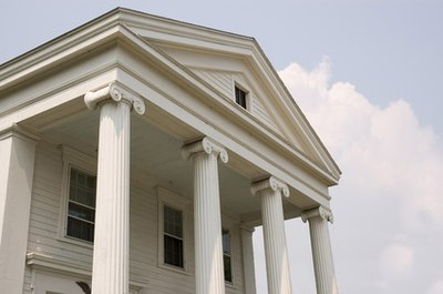 The triangular pediment is a common feature of Greek architecture.