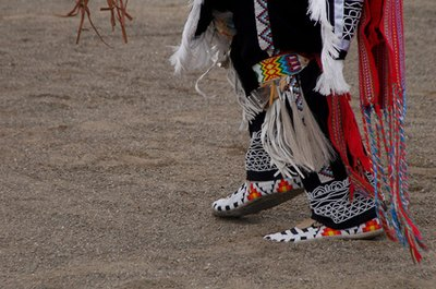 Border designs on Native American regalia