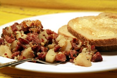 Corned beef is a popular cured meat.