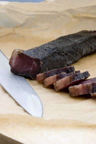 Biltong is a dried beef product from South Africa.
