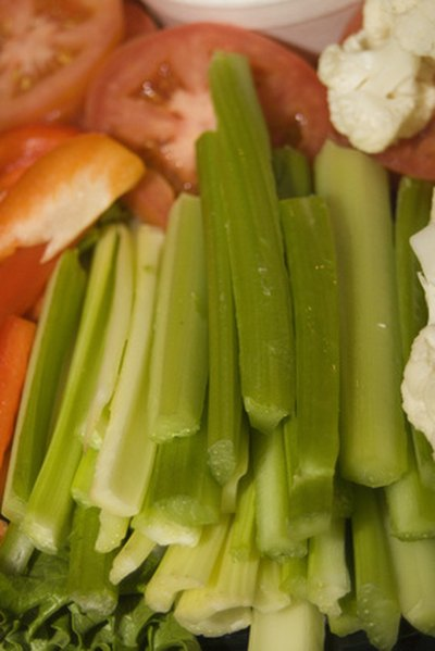Celery sticks form the body of the racing car.