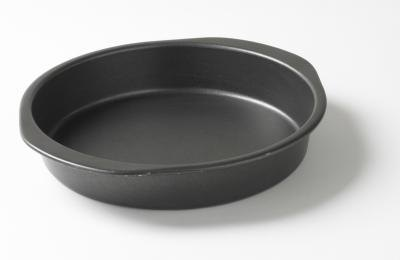 Pans are available in a variety of materials.