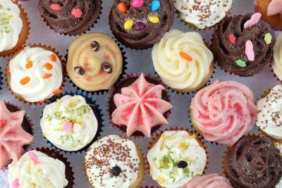 Variety of cupcakes