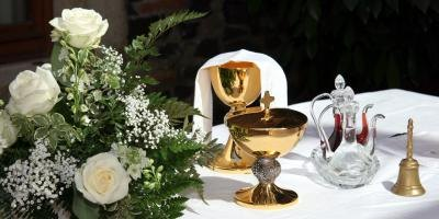 chalice on table