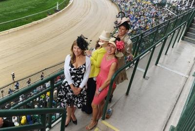 Guests attending the 139th Kentucky Derby at Churchill Downs