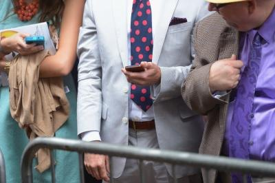 Crowd detail at the 139th Kentucky Derby