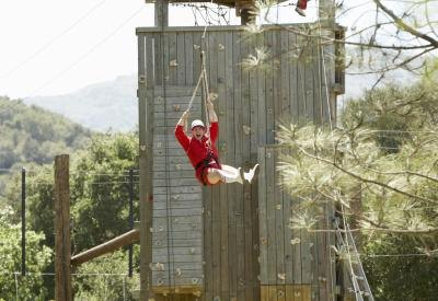 take the birthday boy and his pals to a high ropes adventure course