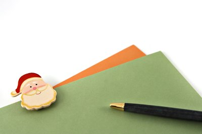 Disguise your handwriting in your reply letter from Santa.