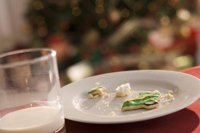 Crumbs leave a noticeable hint that Santa ate the cookies.