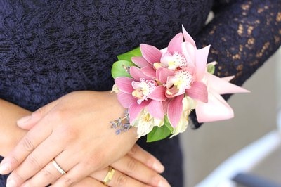 Wrist corsages add elegance to special days.