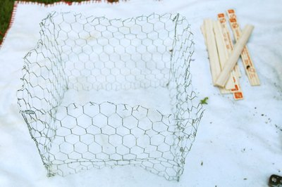 Unsupported chicken wire is flimsy and unruly.