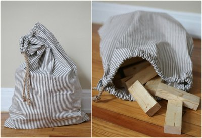 Sew a simple drawstring bag to contain the game pieces.