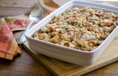 Stuffing is a classic side dish to offer on your Thanksgiving table.