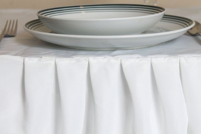 French Pleats Are Narrower Than Regular Box Pleats, Giving The Bottom Of  The Table Skirting A Fuller Appearance. French Box Pleats Work Equally Well  In ...