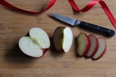 Leave the healthy apple skin intact.