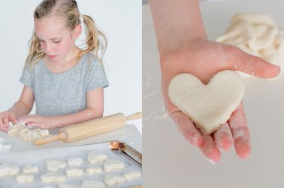 Salt dough heart design.