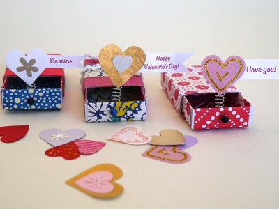 A trio of pop-up Valentines