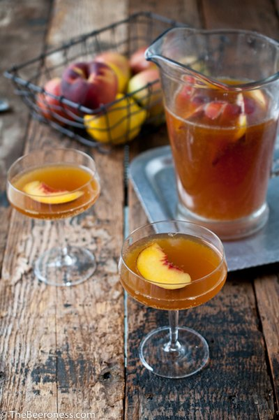 The Beeroness's Beer Sangria is perfect for serving large groups.
