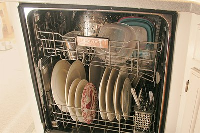 Load the dishwasher the way you normally would.