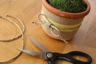 Wrap a jute cord around your colorful ribbon, and secure it with a decorative bow.