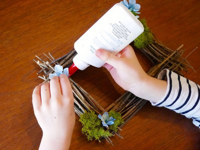 Make it kid-friendly with white glue.