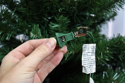 for damage and replace any that have blown using the spare fuses that came with the tree or those purchased from a store that sells christmas lights