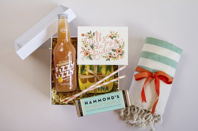 A bridesmaid box makes a thoughtful and fun gift.