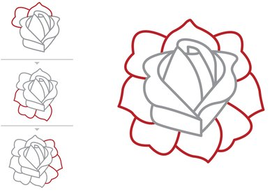 how to draw a classic tattoo style rose with pictures ehow