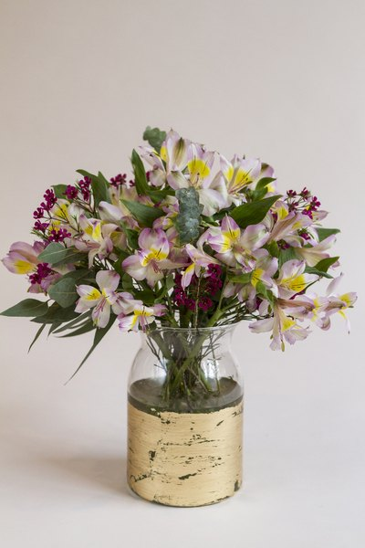 Finish your arrangement by adding accent flowers.