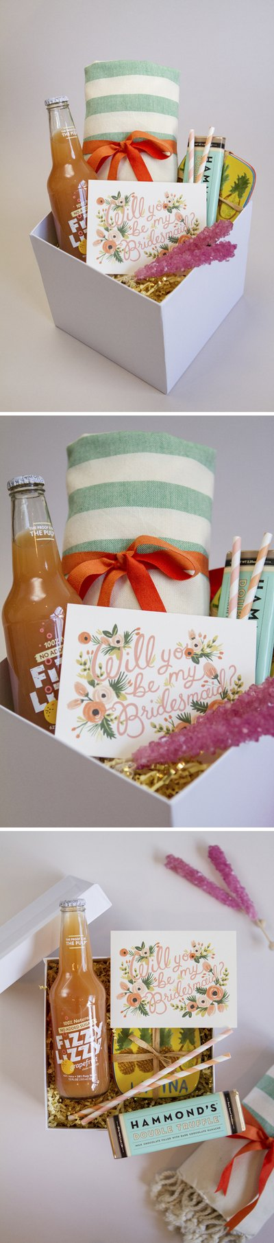Add a sweet card to finish off your bridesmaid box.