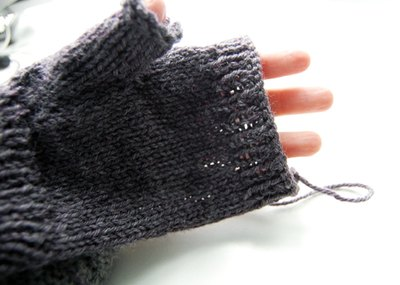 Knit rest of palm