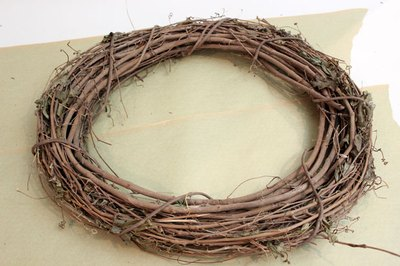 Grapevine wreaths can be round, square or even a heart shaped.
