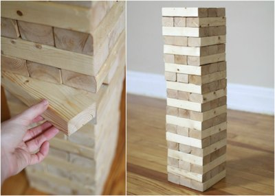 Make this oversized stacking game in three steps.