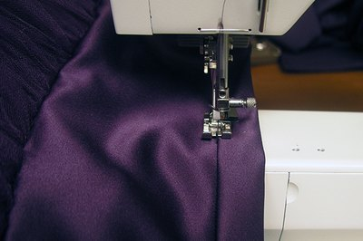 Use an edgefoot to keep the stitching straight.
