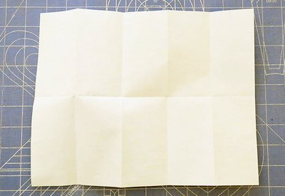 How to fold a paper into ten squares