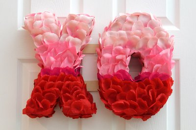 Surprise someone special with a Valentine's Day wreath.