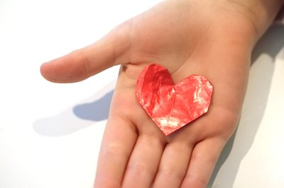 It's easy to create a charming gum wrapper heart.