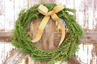 Rosemary wreaths provide year-round appeal.
