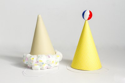 Create festive hats for your next summer season soiree.
