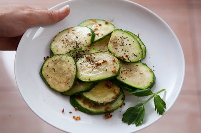 Serve pan-fried zucchini with roasted meats.