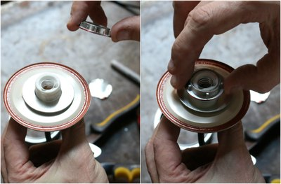 Lightly tighten the lock nut, while centering the jar lid.