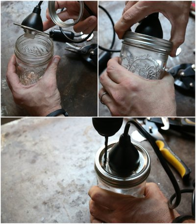 Discard any metal shards that may fall into the jar after drilling.