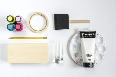 Begin the project by purchasing and laying out all of the necessary supplies.
