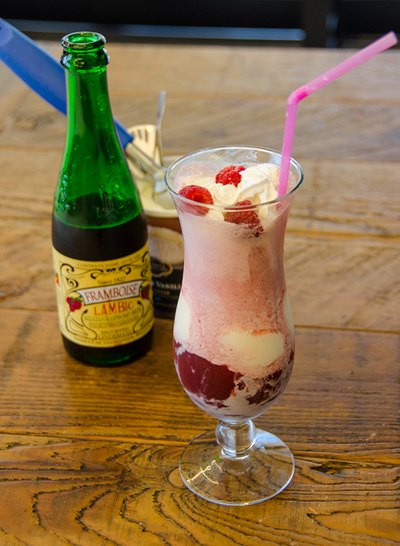 Treat yourself to a lambic beer float.