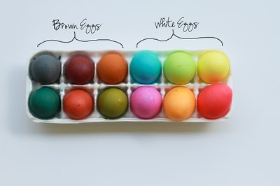 Use the egg carton to store your completed eggs.