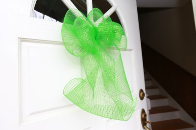 Decorate your door with this easy festive bow.