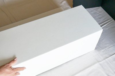 fold the white cardboards into columns