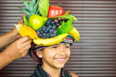 how to make a tropical fruit headpiece
