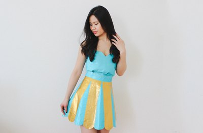 Make a statement at prom with a handmade duct tape dress.